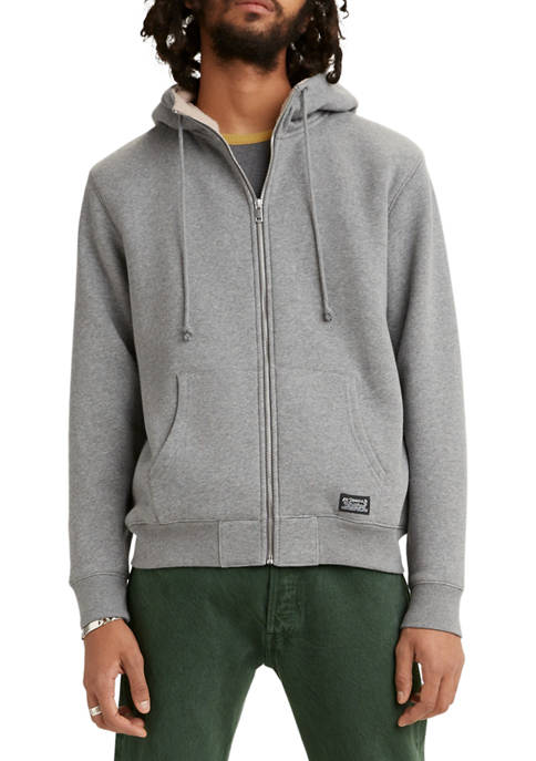 Levi's® Sherpa Lined Zip Up Hoodie