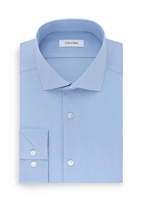 Steel Non Iron Stretch Performance Slim Fit Dress Shirt