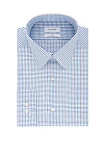 Calvin Klein Slim Stretch Non Iron Check Dress Shirt