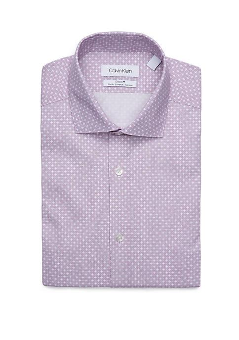 Calvin Klein Slim Stretch Printed Dress Shirt