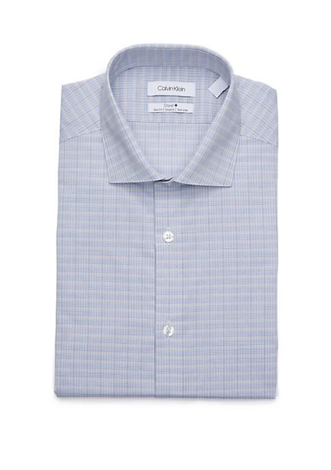 Calvin Klein Slim Fit Plaid Dress Shirt
