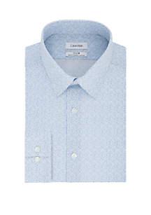 Calvin Klein Slim Stretch Non Iron Floral Print Dress Shirt