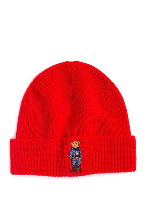Polo Ralph Lauren Jean Jacket Sweater Bear Hat