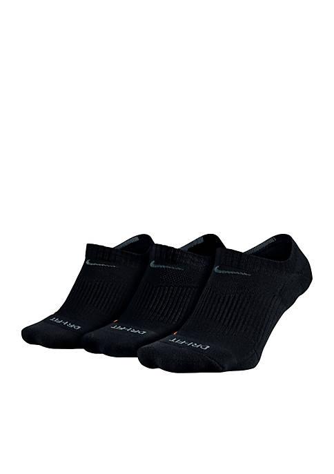 3-Pack Dry Cushion No-Show Training Socks