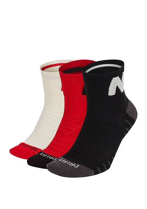 3 Pack Mixed Cushioned Training Crew Socks