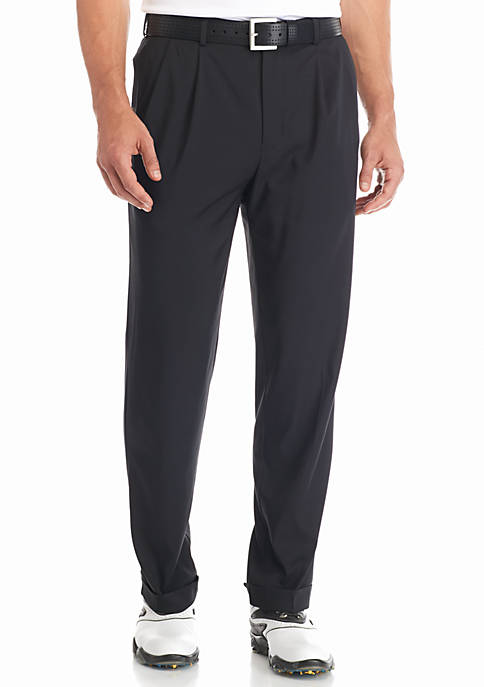 Pleated Comfort Stretch Tech Pants