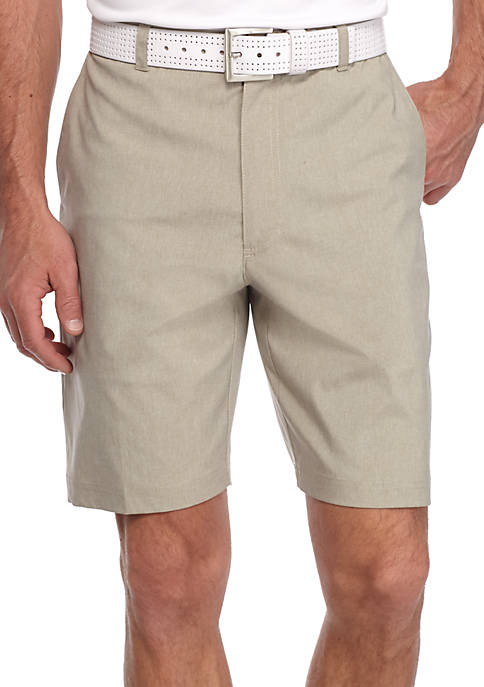 Pro Tour® Flat Front Printed Heather Shorts