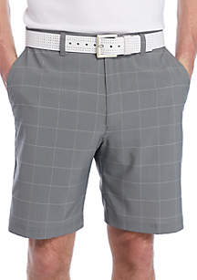 Printed Grid Shorts