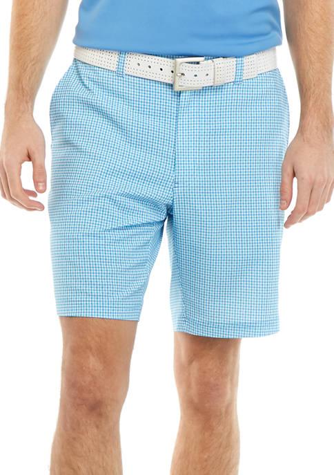 Mens 3 Color Check Shorts