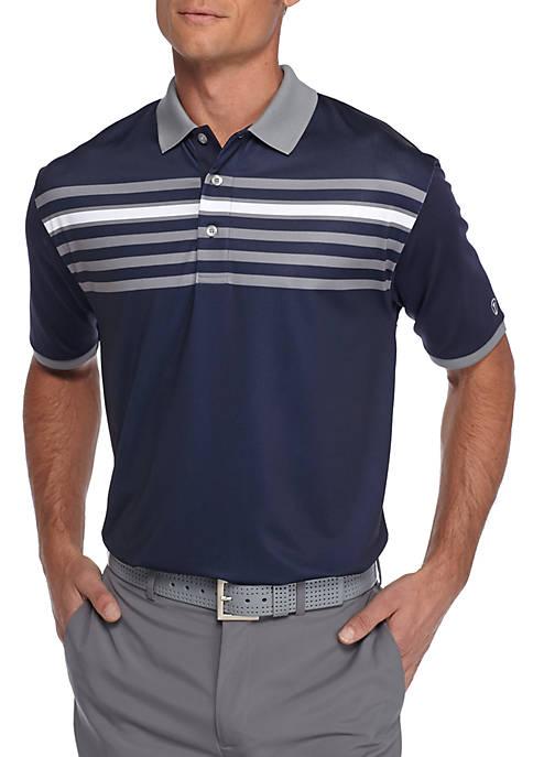 Short Sleeve Streamlined Chest Print Polo Shirt