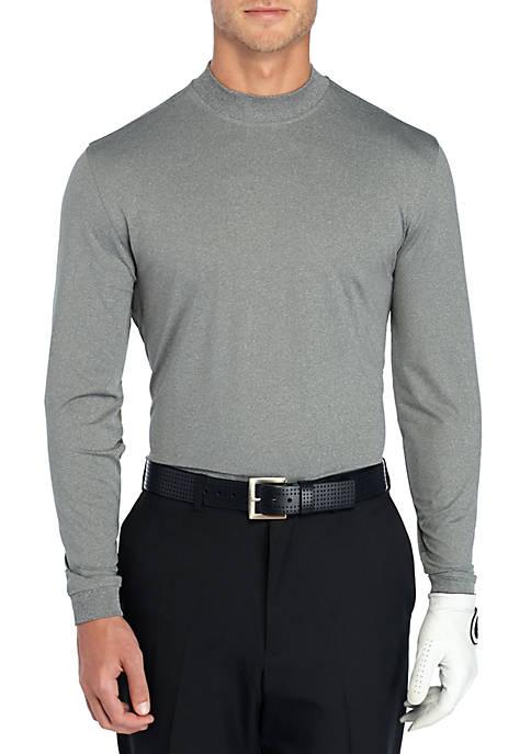 Long Sleeve Heather Mock neck Pullover