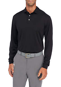 Long Sleeve Stretch Solid Polo