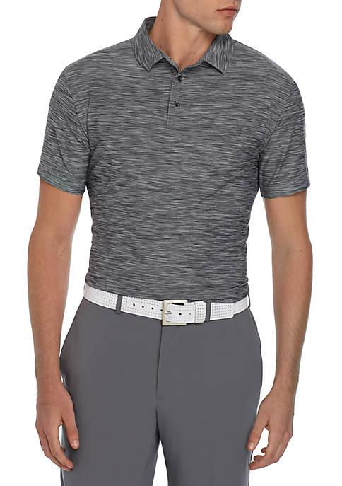 Short Sleeve Space Dye Polo