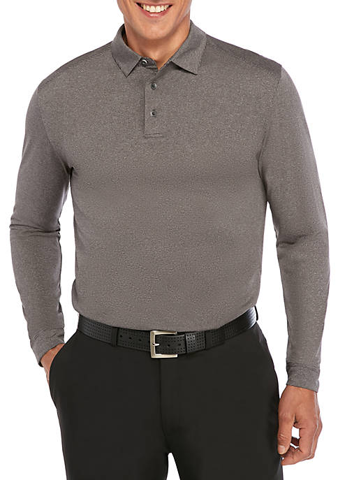 Long Sleeve Fine Link Knit Polo Shirt
