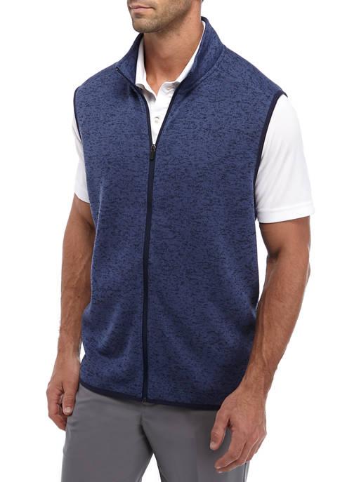 Pro Tour® Mens Knit Fleece Full Zip Vest
