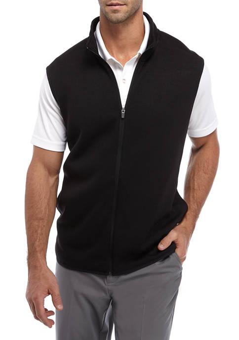 Mens Knit Fleece Full Zip Vest