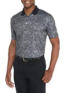Short Sleeve Micro Tropic Print Polo Shirt