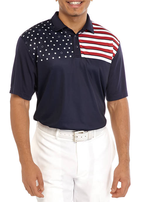 Short Sleeve Stars and Stripes Polo Shirt