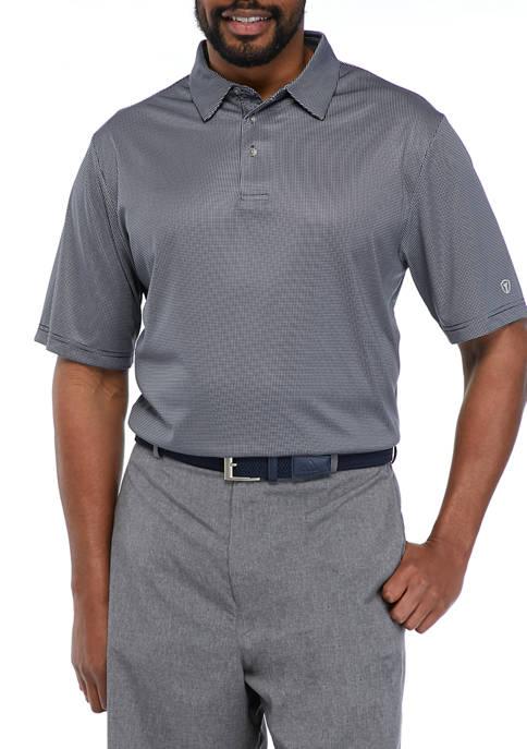 Big & Tall Short Sleeve Gingham Polo