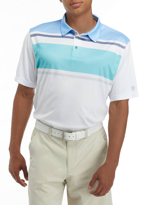 Stacked Chest Stripe Polo Shirt