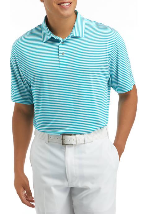 Short Sleeve Feeder Stripe Polo Shirt