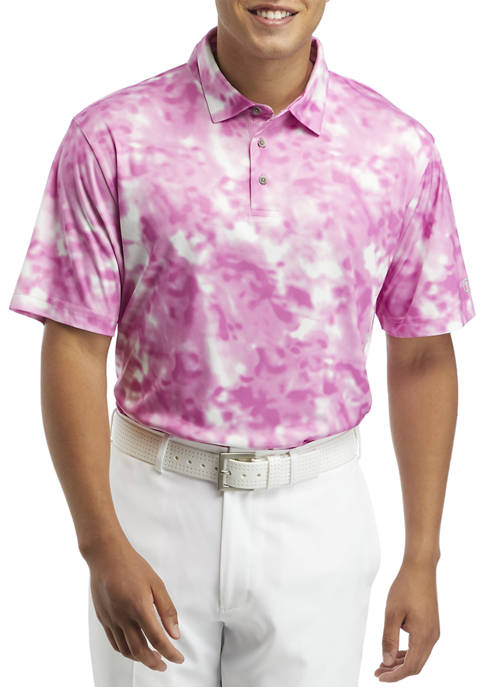 Pro Tour® Short Sleeve Tie Dye Print Polo