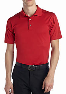 Short Sleeve Airplay Solid Polo Shirt
