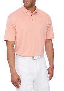 Short Sleeve Mini Jacquard Polo Shirt