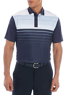Pro Tour® Short Sleeve Printed Chest Twill Polo