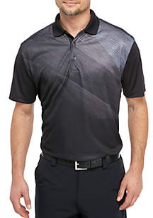Pro Tour® Asymmetrical Space Dye Twill Polo Shirt
