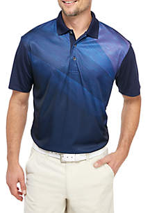 Pro Tour® Asymmetrical Space Dye Twill Polo Shirt