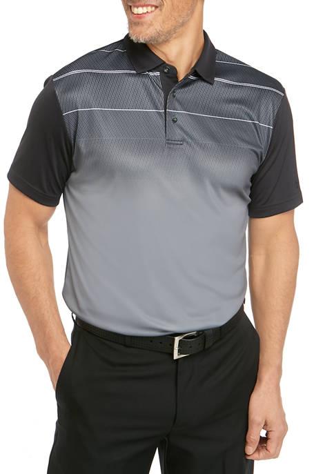 Mens Short Sleeve Grading Geometric Print Polo
