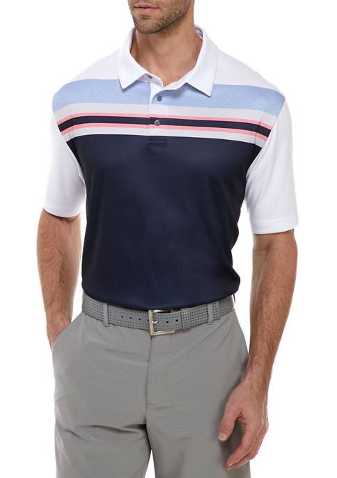 Short Sleeve Stacked Stripe Polo Shirt