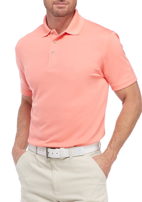 Solid Textured Polo Shirt