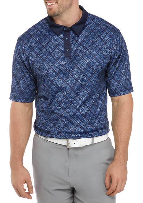 Big & Tall Geo Print Polo Shirt