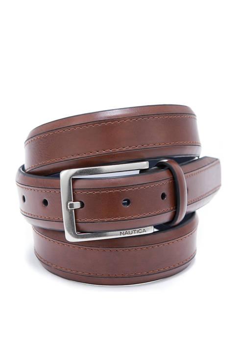 32 Millimeter Stitch Tan Belt