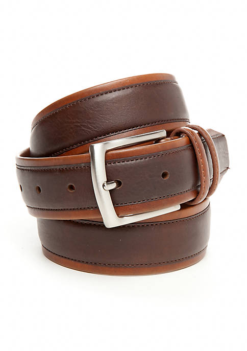 35mm Tubular With Leather Overlay Casual Belt