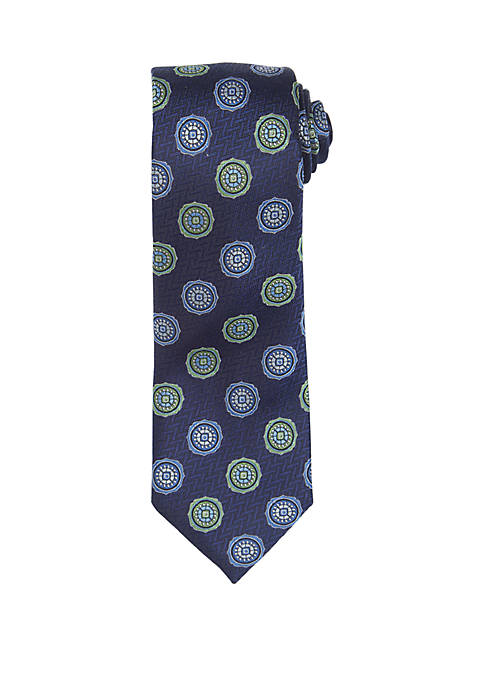 Countess Mara Albizzi Medallion Print Necktie