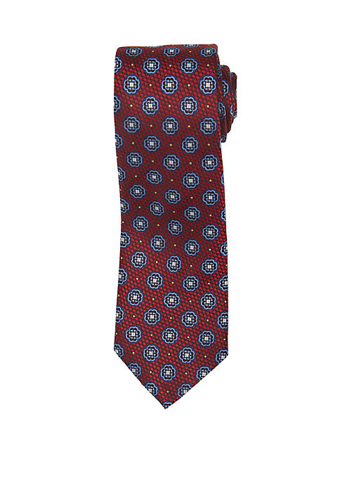 Countess Mara Bronzino Medallion Print Neck Tie