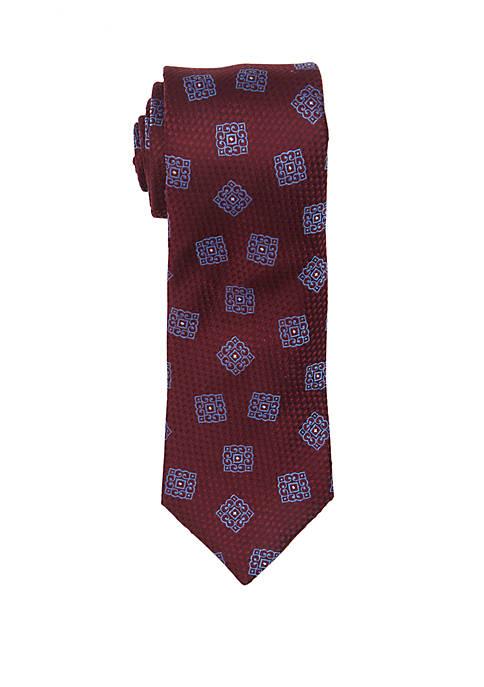 Santi Medallion Print Tie