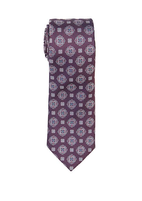 Countess Mara Bonatti Medallion Print Neck Tie