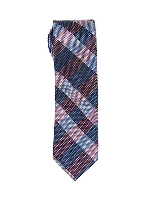 Countess Mara Verdino Check Print Neck Tie