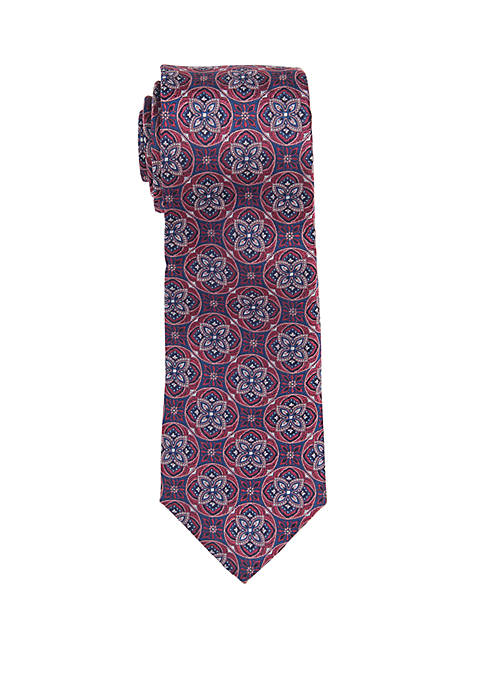 Countess Mara Ornaghi Medallion Print Neck Tie