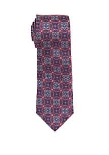 Ornaghi Medallion Print Neck Tie
