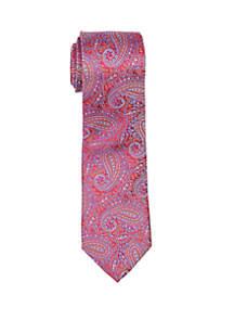 Carmine Paisley Print Neck Tie