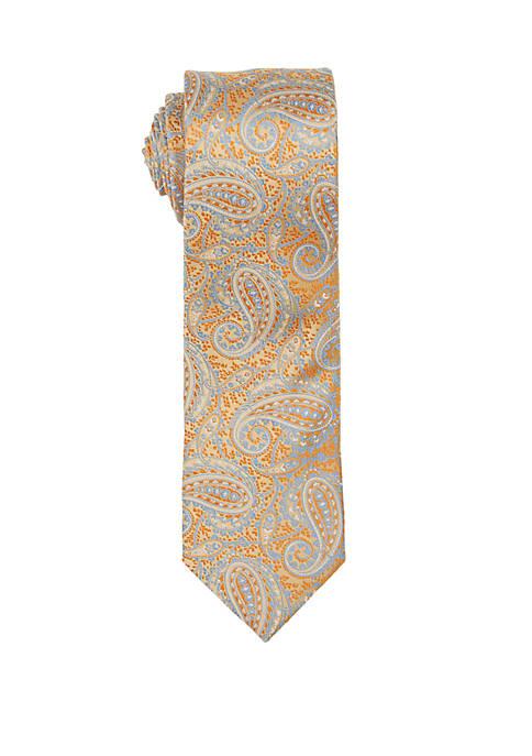 Countess Mara Carmine Paisley Print Neck Tie