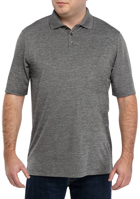 Big & Tall Short Sleeve Marled Polyester Polo Shirt