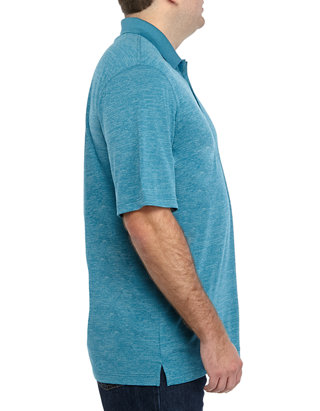 Haggar Mens Big and Tall Big/&Tall Short Sleeve Marled Polo