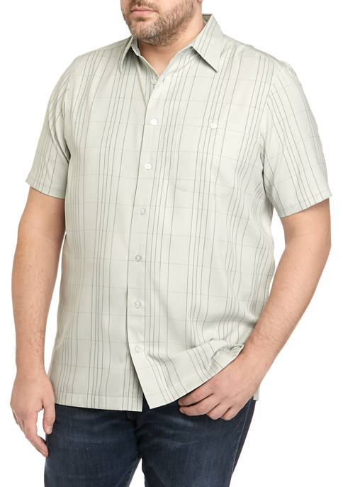 Haggar® Big & Tall Cool Plaid Short Sleeve