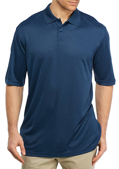 Big & Tall Short Sleeve Solid Poly Polo